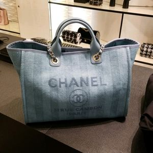 💗NWT Chanel Deauville Large Teal